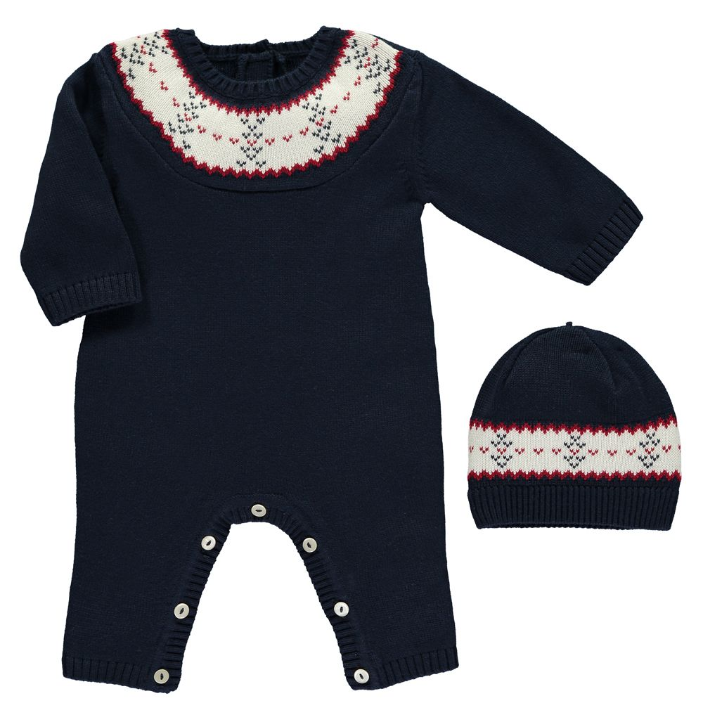bff521858cb Emile et Rose 1731nv Knit AIO With hat Available Sizes Newborn 1 3 momths