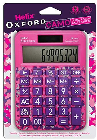 Helix Oxford Camo Calculator - Pink